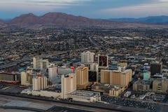 Vista aérea de Las Vegas del norte Imagen de archivo libre de regalías