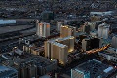 Vista aérea de Las Vegas del norte Foto de archivo libre de regalías