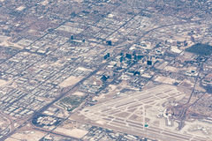 Vista aérea de Las Vegas, Nevada fotos de archivo libres de regalías