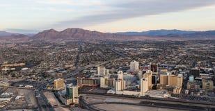 Vista aérea de Las Vegas norte Foto de Stock Royalty Free