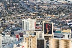 Vista aérea de Las Vegas norte Fotografia de Stock
