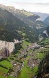 Vista aérea de Leuterbrunnen Imágenes de archivo libres de regalías