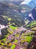 Vista aérea de Leuterbrunnen Imagen de archivo