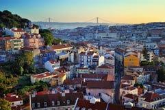 Vista aérea de Lisboa Fotografia de Stock
