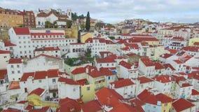 Vista aérea de Lisboa almacen de video