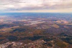 Vista aérea de Lisboa do plano ou do zangão, Portugal fotografia de stock royalty free