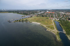Vista aérea de Lodsparken, Dinamarca imagens de stock