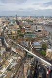 Vista aérea de Londres Foto de archivo libre de regalías