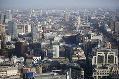 Vista aérea de Londres da construção do Walkietalkie na rua de 20 Fenchurch Imagem de Stock Royalty Free