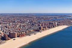 Vista aérea de Long Island em New York fotografia de stock