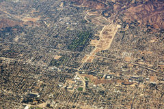 Vista aérea de Los Ángeles en los Estados Unidos Foto de archivo