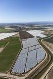 Vista aérea de los campos de granja cerca de Oxnard y de Camarillo California Imagen de archivo