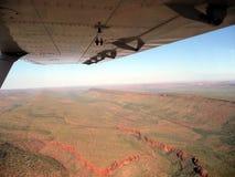 Vista aérea de los cantos de la montaña en Australia Imágenes de archivo libres de regalías