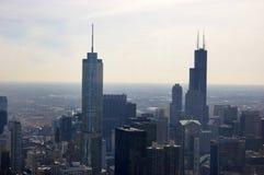 Vista aérea de los edificios de Chicago imagen de archivo