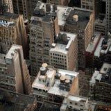 Vista aérea de los edificios de NYC Imágenes de archivo libres de regalías