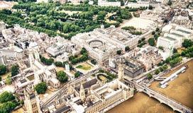 Vista aérea de los edificios de Londres, Reino Unido Fotografía de archivo