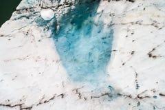 Vista aérea de los icebergs que flotan en la laguna de Jokulsarlon por tan Fotografía de archivo