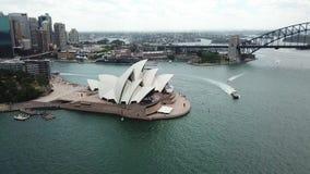 Vista aérea de los puntos turísticos de Sydney Turismo de Australia almacen de video