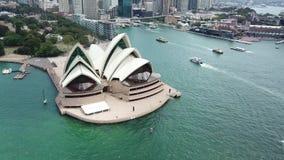Vista aérea de los puntos turísticos de Sydney Turismo de Australia almacen de metraje de vídeo