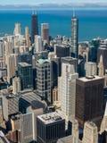 Vista aérea de los rascacielos de Chicago fotografía de archivo