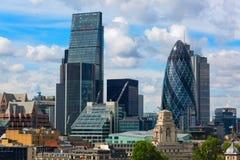 Vista aérea de los rascacielos de la ciudad de Londres Fotografía de archivo