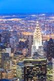 Vista aérea de los rascacielos de Nueva York Fotos de archivo libres de regalías