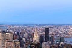 Vista aérea de los rascacielos de Nueva York Fotografía de archivo libre de regalías