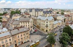 Vista aérea de Lviv, Ucrania imagen de archivo libre de regalías