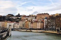 Vista aérea de Lyon, França fotografia de stock