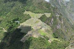 Vista aérea de Machu Picchu, Peru imagens de stock