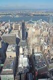 Vista aérea de Macy y del Midtown Imagenes de archivo