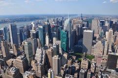 Vista aérea de Mahattan del Empire State Building en Nueva York Fotografía de archivo
