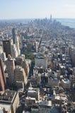 Vista aérea de Mahattan del Empire State Building en Nueva York Imagen de archivo