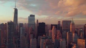 Vista aérea de mais baixo Manhattan vídeos de arquivo