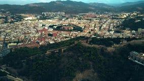 Vista aérea de Malaga, Espanha video estoque