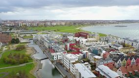 Vista aérea de Malmo, Suécia video estoque