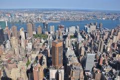 Vista aérea de Manhattan del Empire State Building en Nueva York Fotografía de archivo libre de regalías
