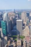 Vista aérea de Manhattan del Empire State Building en Nueva York Imagen de archivo
