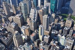 Vista aérea de Manhattan do Empire State Building em New York Imagem de Stock Royalty Free
