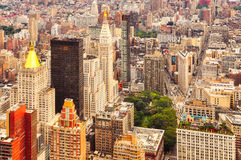 Vista aérea de Manhattan, New York City, los E.E.U.U. fotos de archivo libres de regalías