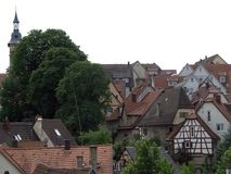 Vista aérea de Marbach Imagenes de archivo