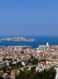 Vista aérea de Marsella Francia y si castillo Imagen de archivo libre de regalías