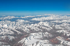 Vista aérea de mayor Himalaya Imagenes de archivo