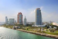Vista aérea de Miami Beach del sur foto de archivo