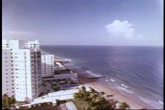 Vista aérea de Miami, la Florida almacen de video
