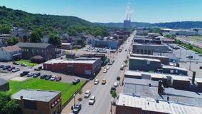 Vista aérea de Midland Pennsylvania almacen de video