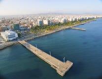 Vista aérea de Molos, Limassol, Chipre fotografía de archivo