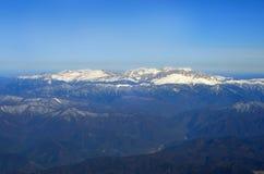 Vista aérea de montañas Fotografía de archivo libre de regalías