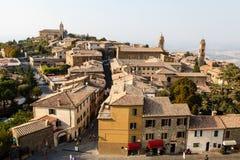 Vista aérea de Montalcino foto de archivo libre de regalías