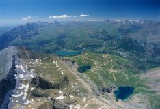 Vista aérea de montanhas de Tendenera Foto de Stock Royalty Free